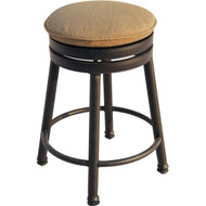 Darlee Round Backless Counter Height Swivel Bar Stool - Antique Bronze