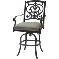 Darlee Santa Barbara Patio Counter Height Swivel Bar Stool - Antique Bronze
