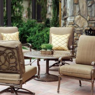 Darlee Florence Deep Seating Set -Antique Bronze -Seats 4