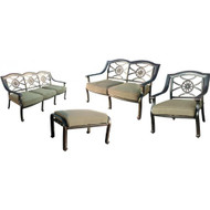 Darlee Ten Star Deep Seating Set -Antique Bronze -Seats 6