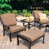 Darlee Ten Star Deep Seating Set -Antique Bronze -Seats 2