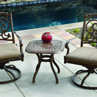 Darlee Santa Barbara Patio Conversation Set -Mocha -Seats 2