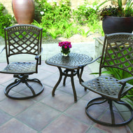 Darlee Sedona Patio Conversation Set -Antique Bronze -Seats 2