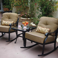 Darlee Nassau Patio Conversation Set -Antique Bronze - Seats 2