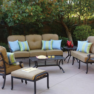 Darlee Santa Monica Patio Conversation Set -Antique Bronze -Seats 5