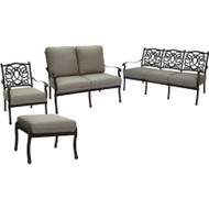 Darlee Florence Deep Seating Set -Antique Bronze -Seats 6