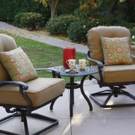 Darlee Santa Monica Patio Conversation Set -Seats 2