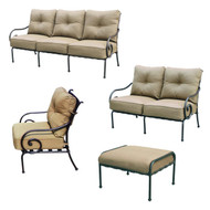 Darlee Malibu Deep Seating Set -Antique Bronze -Seats 6