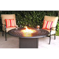 Darlee Florence Deep Seating Patio Fire Pit Conversation Set -Mocha -Seats 2