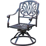 Darlee Elisabeth Patio Swivel Rocker Dining Chair - Antique Bronze