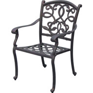 Darlee Santa Monica Patio Dining Chair -Antique Bronze
