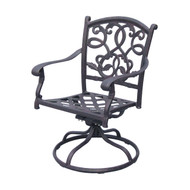 Darlee Santa Monica Patio Swivel Rocker Dining Chair -Antique Bronze