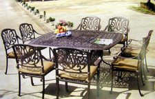 Darlee Elisabeth Patio Furniture Dining Set - Seats 8