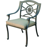 Darlee Ten Star Patio Dining Chair -Antique Bronze