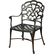 Darlee Catalina Patio Dining Chair - Antique Bronze