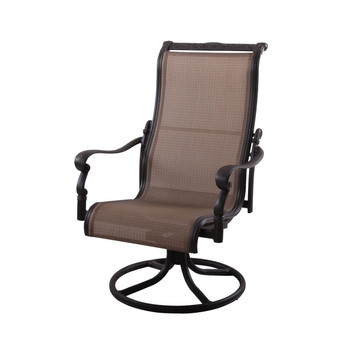 ... Patio Swivel Rocker Dining Chair  Antique Bronze. Image 1