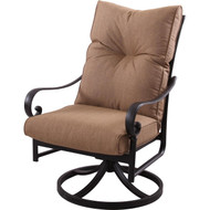 Darlee Santa Anita Patio Swivel Rocker Dining Chair -Antique Bronze