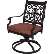 Darlee St. Cruz Patio Swivel Rocker Dining Chair -Antique Bronze