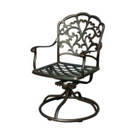 Darlee Catalina Patio Swivel Rocker Dining Chair - Antique Bronze