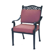 Darlee Charleston Patio Dining Chair -Antique Bronze