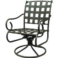 Darlee Malibu Patio Swivel Rocker Dining Chair -Antique Bronze