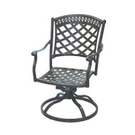 Darlee Sedona Patio Swivel Rocker Dining Chair -Mocha