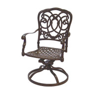 Darlee Florence Patio Swivel Rocker Dining Chair -Mocha