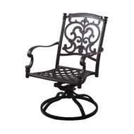 Darlee Santa Barbara Patio Swivel Rocker Dining Chair -Mocha