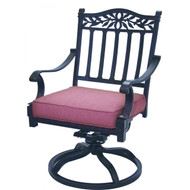 Darlee Charleston Patio Swivel Rocker Dining Chair -Antique Bronze