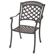 Darlee Sedona Patio Dining Chair -Antique Bronze