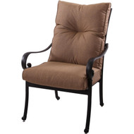 Darlee Santa Anita Patio Dining Chair -Antique Bronze