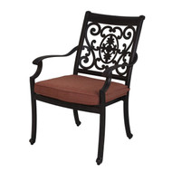 Darlee St. Cruz Patio Dining Chair -Antique Bronze