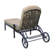 Darlee Elisabeth Patio Chaise Lounge -Antique Bronze