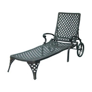 Darlee Nassau Patio Chaise Lounge -Antique Bronze