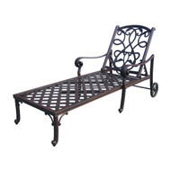 Darlee Santa Monica Patio Chaise Lounge -Antique Bronze