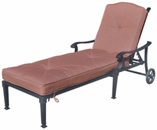 Darlee Charleston Patio Chaise Lounge -Antique Bronze