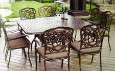 Darlee Florence Patio Furniture Dining Set - Seats 8