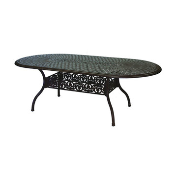Darlee Series 60 Oval Patio Dining Table Antique Bronze San Diego Spa Patio