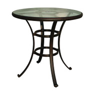 Darlee Series 50 Patio Bar Table With Glass Top -Antique Bronze