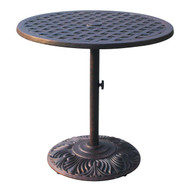 Darlee Series 30 Counter Height Pedestal Patio Bar Table -Antique Bronze