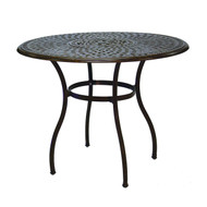 Darlee Series 60 Counter Height Patio Bar Table With Ice Bucket -Mocha