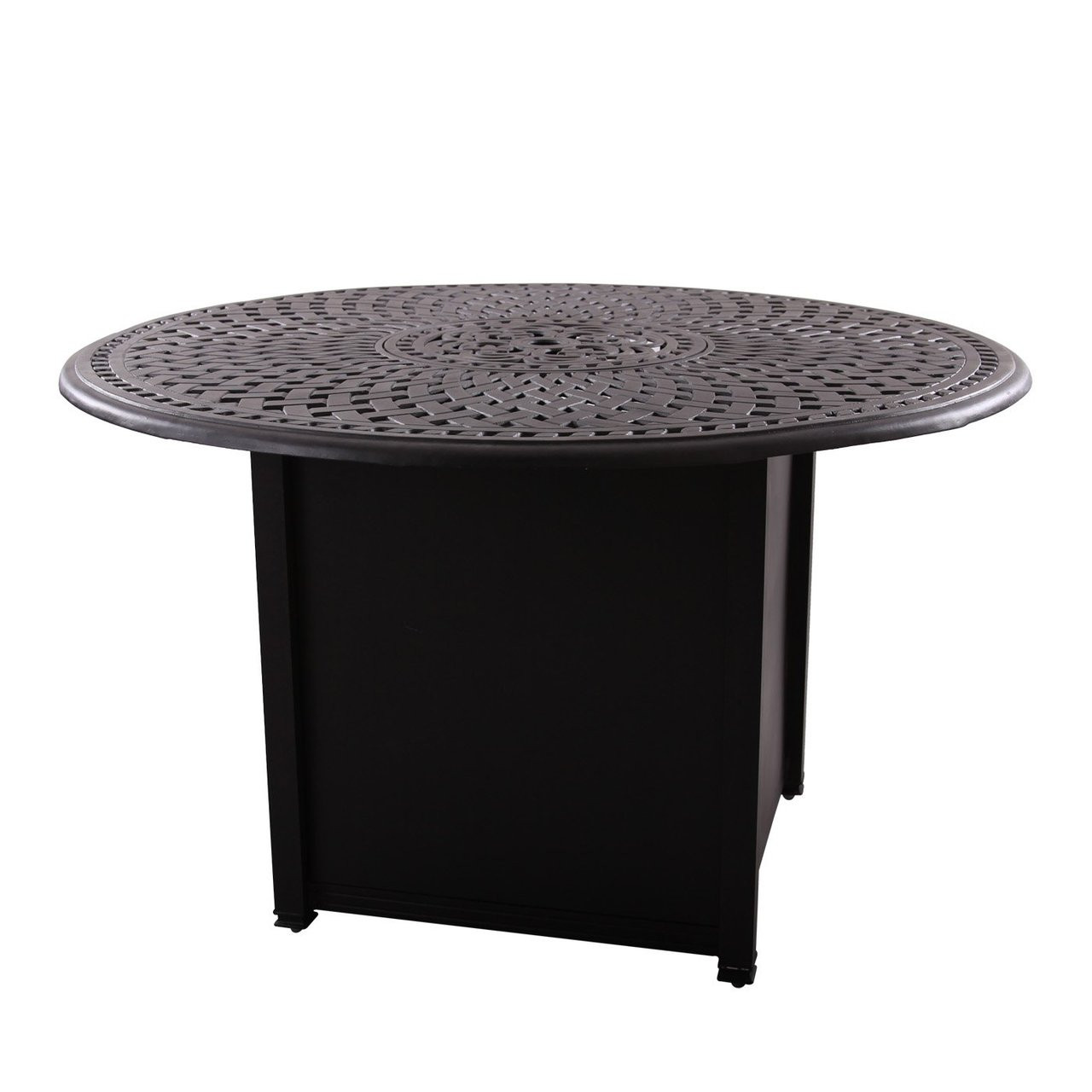 Picture of: Darlee 60 Round Counter Height Propane Fire Pit Dining Table Mocha San Diego Spa Patio