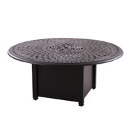 "Darlee 52"" Round Propane Fire Pit Chat Table -Antique Bronze"