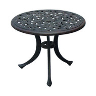 Darlee Series 80 Patio End Table -Antique Bronze