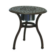 Darlee Series 60 Patio End Table With Ice Bucket Insert -Antique Bronze