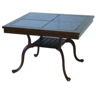 Darlee Series 77 Patio End Table With Granite Top -Antique Bronze / Brown Granite Tile