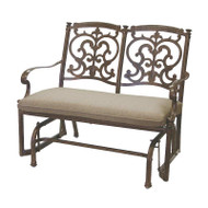 Darlee Santa Barbara Patio Bench Glider -Mocha