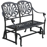 Darlee Elisabeth Patio Bench Glider -Antique Bronze
