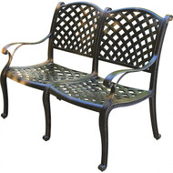 Darlee Nassau Patio Bench -Antique Bronze