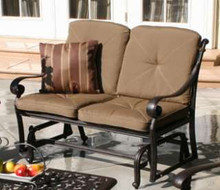 Darlee Santa Monica Deep Seating Patio Loveseat Glider -Antique Bronze
